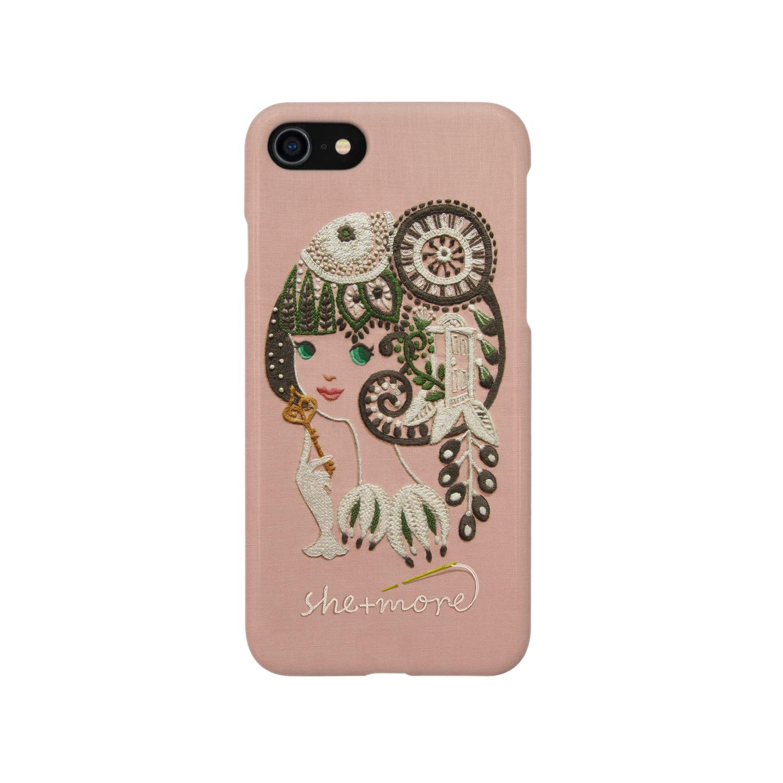 シーモア(she+more)の(iphone) シークレットガーデン Smartphone cases