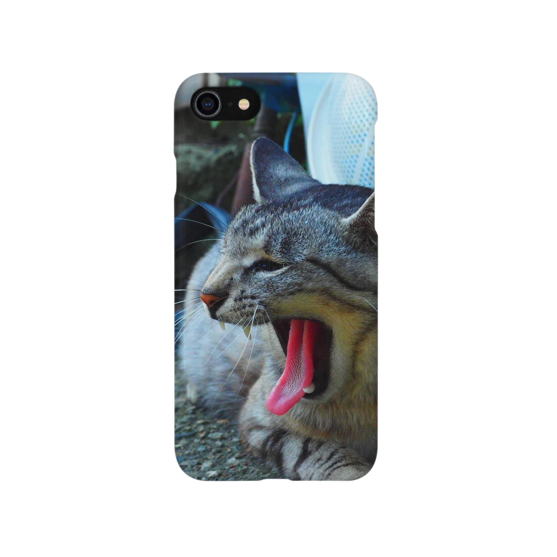 yoshiyasusanのあくび猫ちゃん Smartphone cases