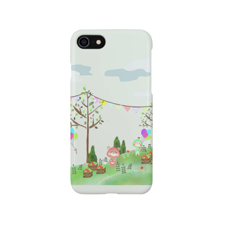 anpanchoitoのあっぷるべぁ リンゴ収穫 Smartphone cases