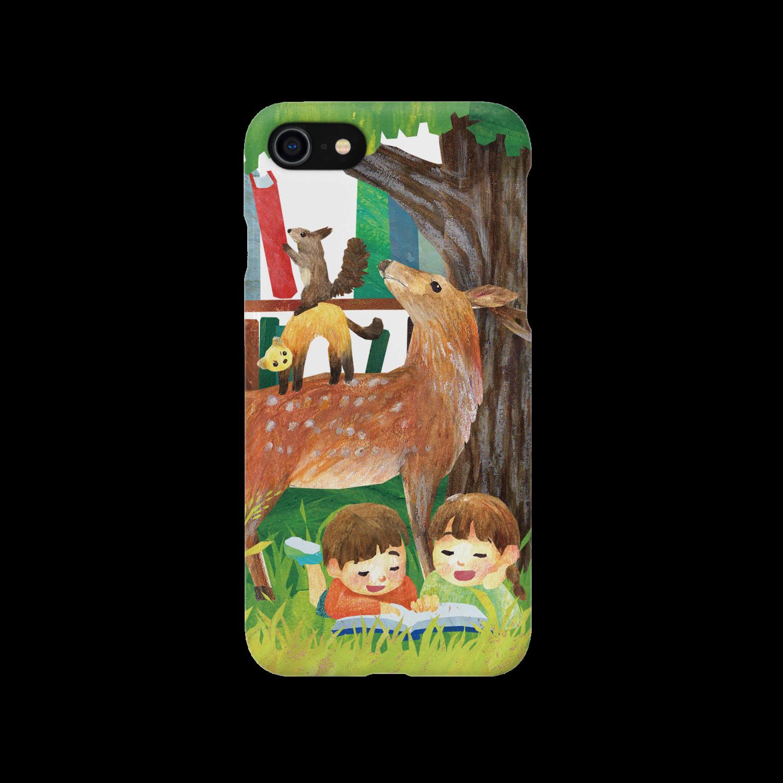 gomaphの親鹿とクロテンとエゾリスのブレーメンスマートフォンケース