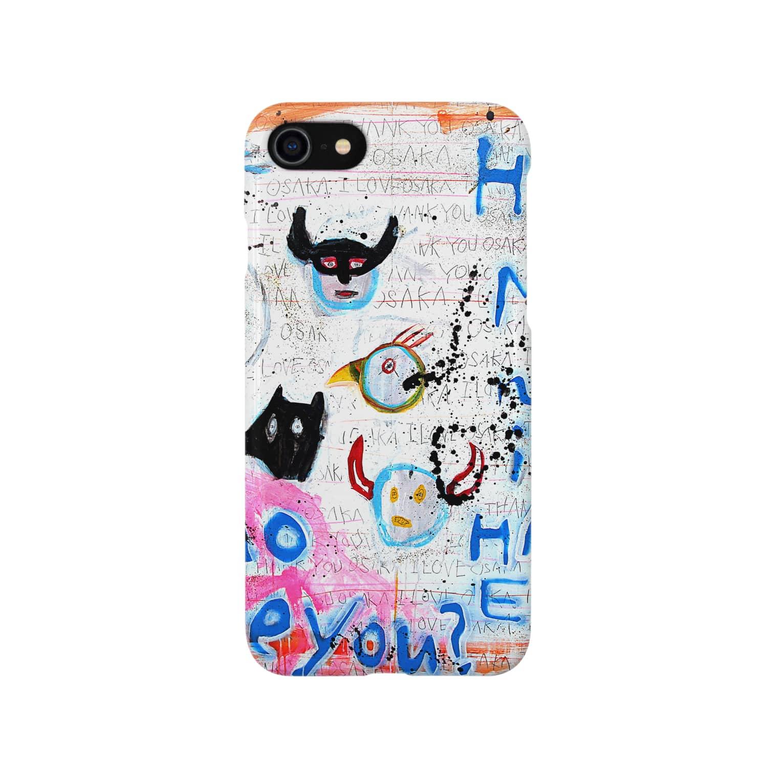 DoiMayumiのPOP ART(HAPYY END) Smartphone cases