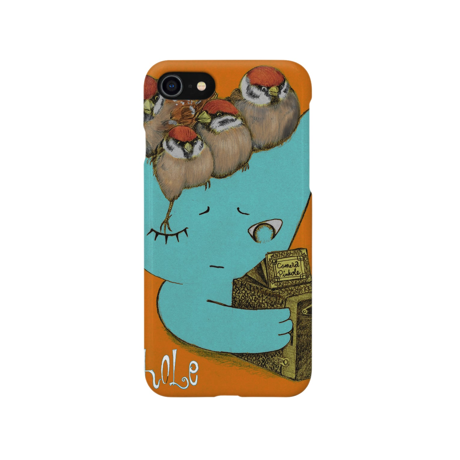 FINCH LIQUEUR RECORDSのピンホール Smartphone cases