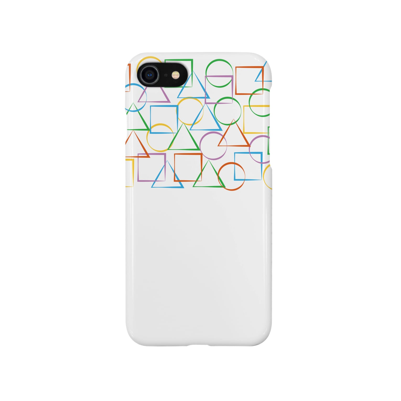 a-noの○△□カラフル Smartphone cases