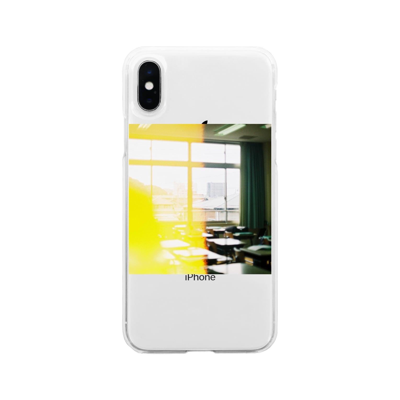wa_d3300_の卒業式当日の教室 Soft clear smartphone cases