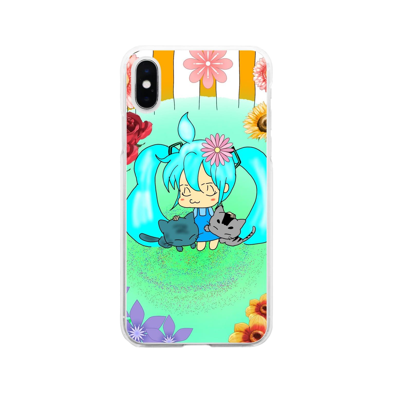 Miku Corporation  Galleryのmikuと愛猫 Soft clear smartphone cases