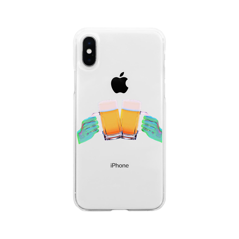 KAIRAKUの乾杯 2 Soft clear smartphone cases