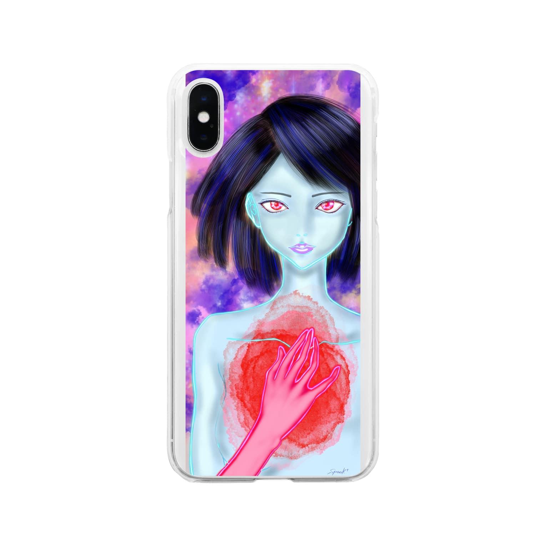 spooky_m1934のこの胸で鳴るもの Soft clear smartphone cases