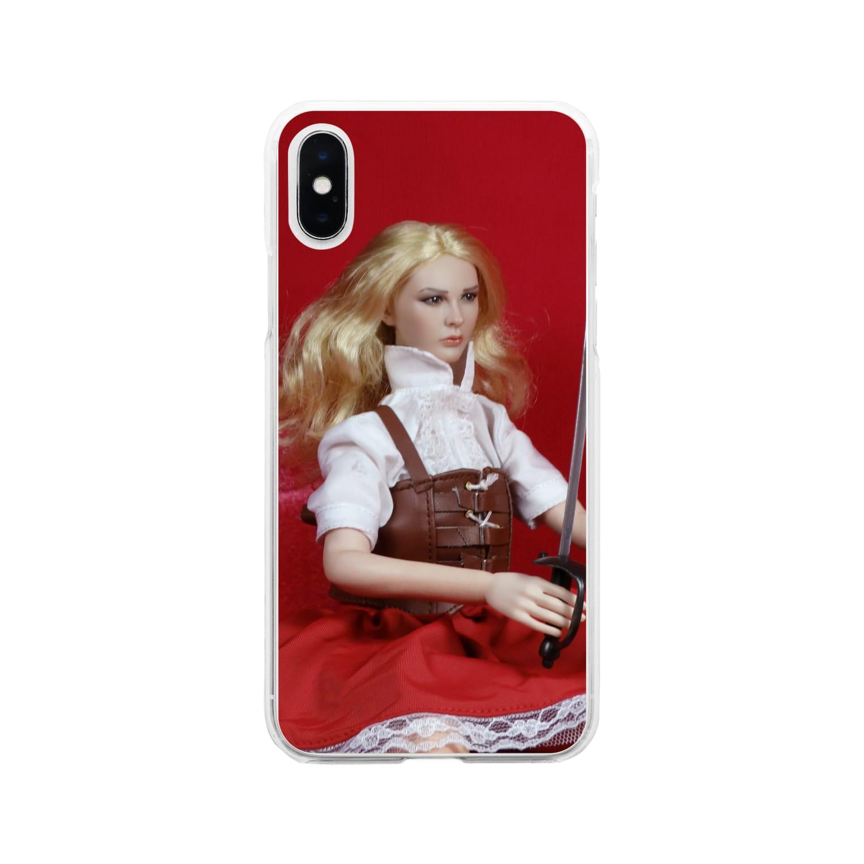FUCHSGOLDのドール写真:ブロンドの冒険者 Doll picture: Blonde adventurer Soft clear smartphone cases