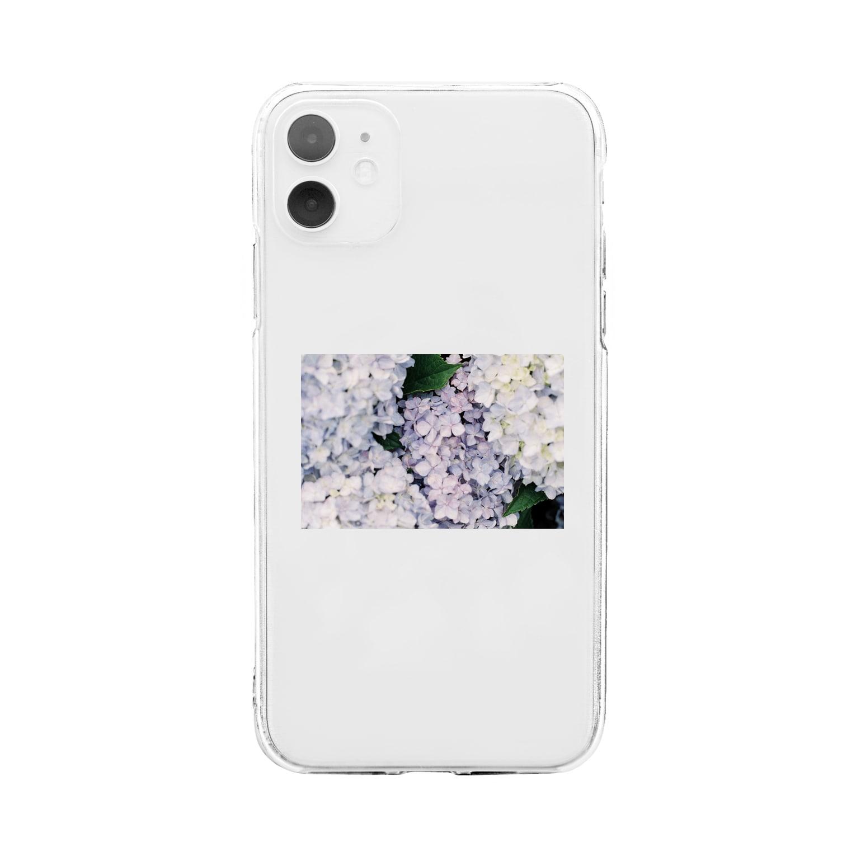 rgsp_enの紫陽花 Soft clear smartphone cases