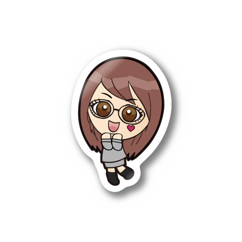 バニラde高収入ショップ[SUZURI店]のOKANE♥DAISUKI Stickers