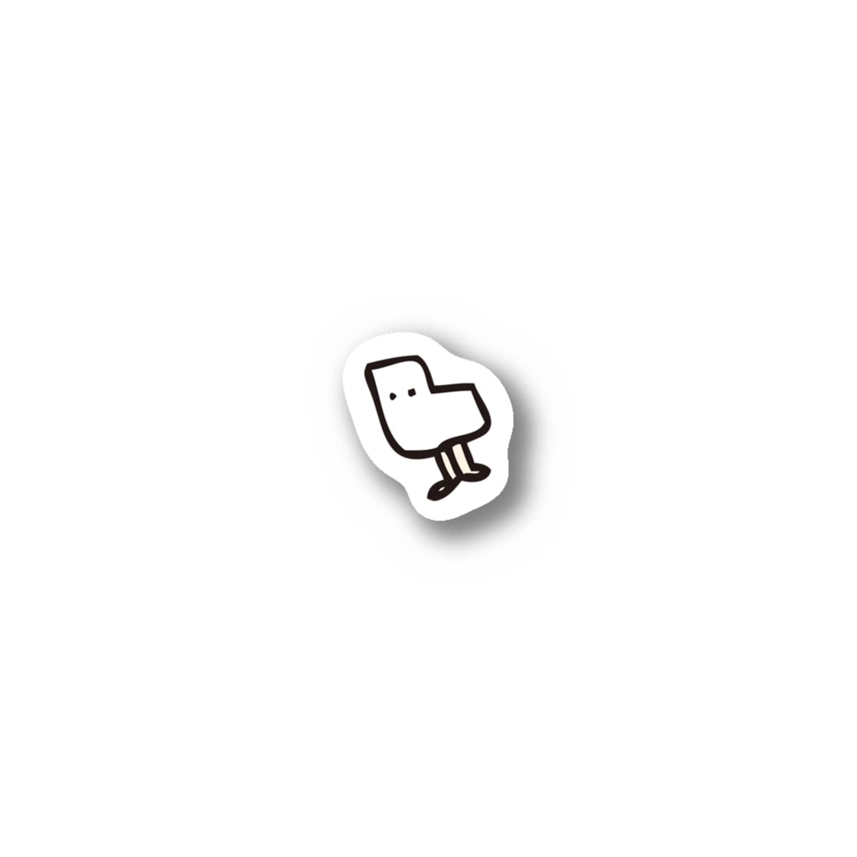 おもちの角ちゃんステッカー小さめ Stickers