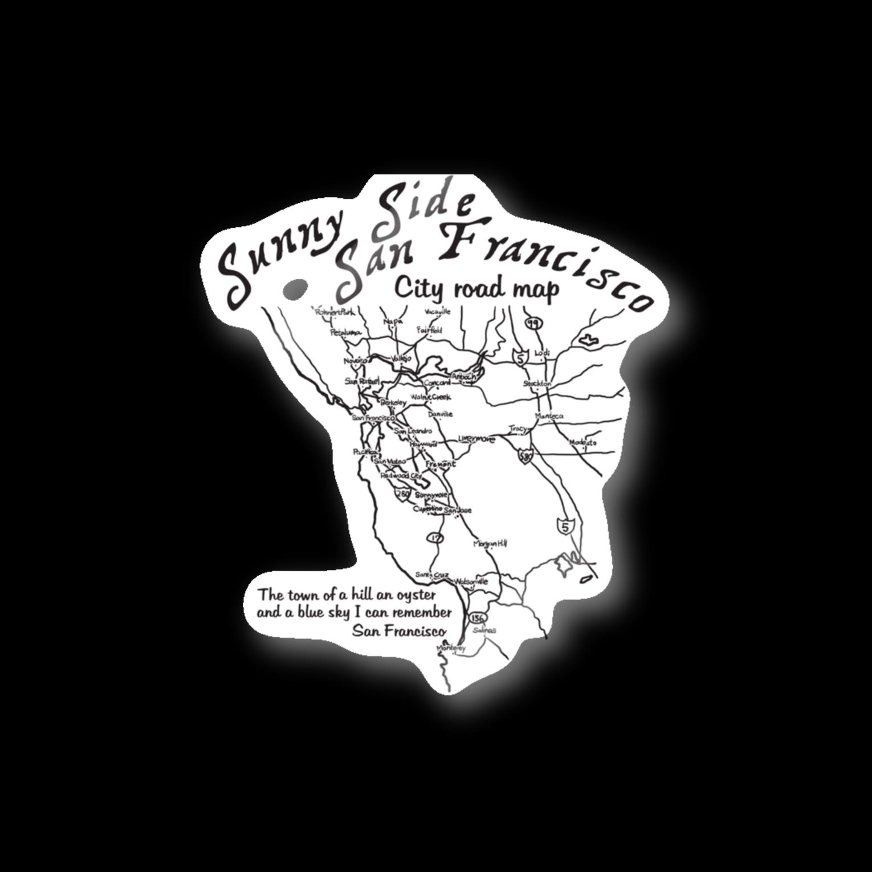 JOKERS FACTORYのCITY ROAD MAP ステッカー