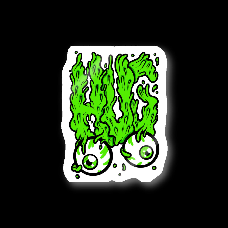 HUGオフォシャルショップのHUG, Slime, Melt...ステッカー