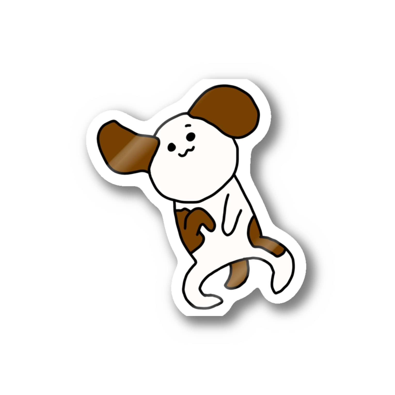 はるこの画伯ショップのしょんぼり犬 Stickers