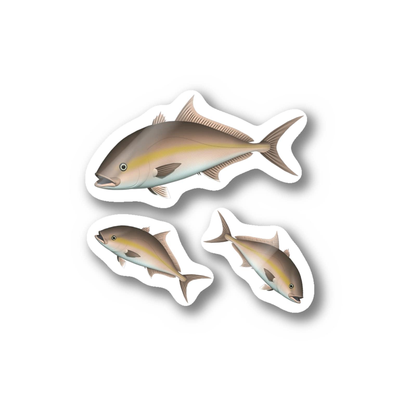 猫と釣り人のカンパチ_2_ST Stickers