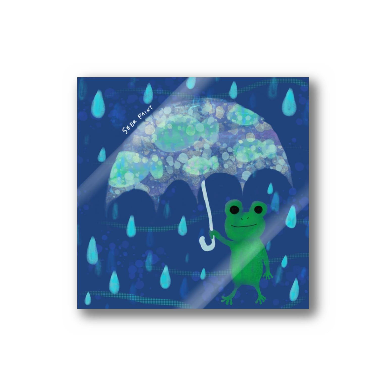 シーアペイントのカエルのアンブレラ Stickers