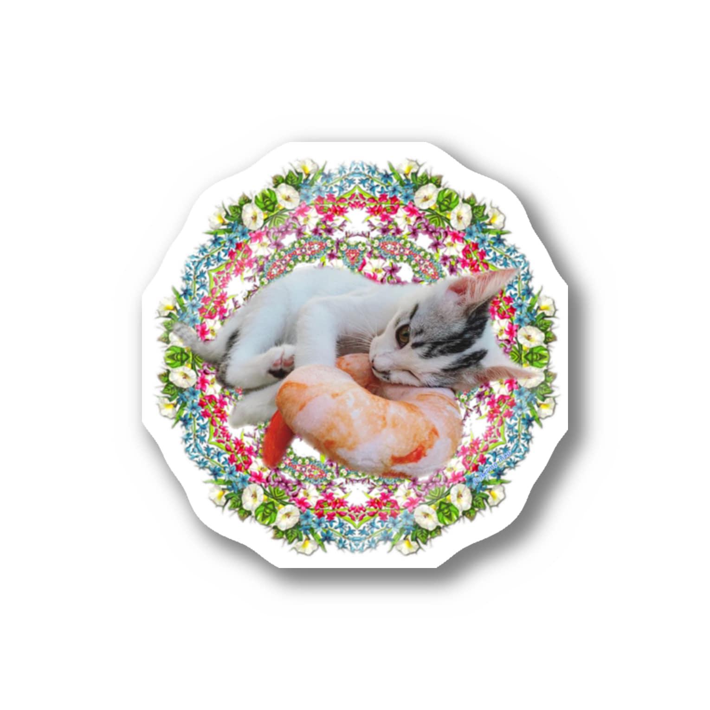保護猫カフェ「駒猫」さん家のNo.4 イチゴちゃん♪ Stickers