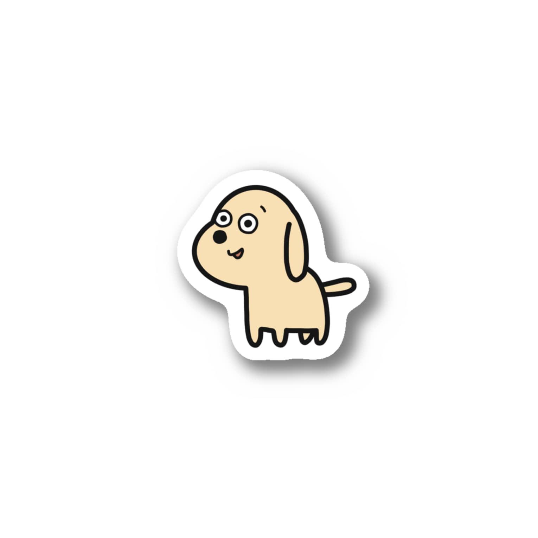 inu shopのほほえみのイヌ Stickers