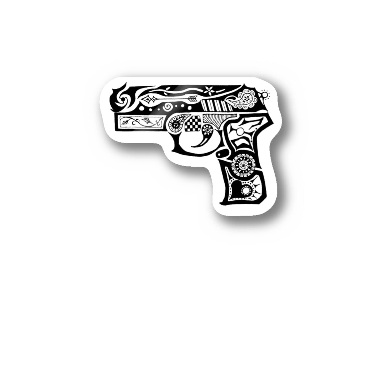 ぽよっとちよっとのD.I.Jのピストル Stickers