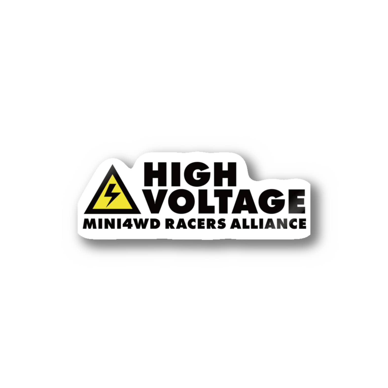 highvoltagewearsのロゴA Stickers