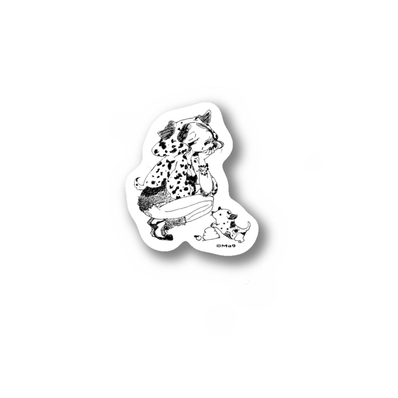 Ma9's shopのdog 2018産 Stickers
