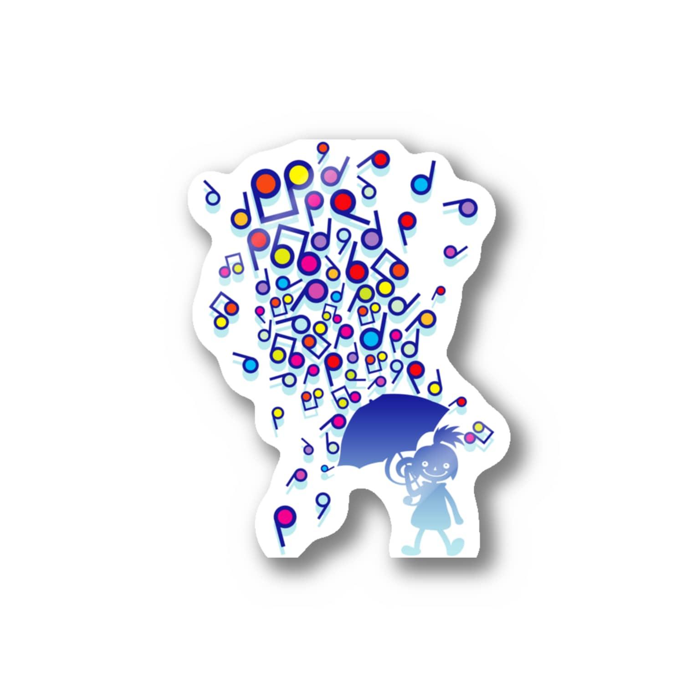 AURA_HYSTERICAのSingin' in the Rain Stickers