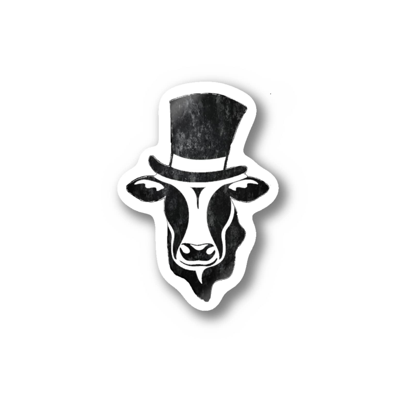 Mattyanの牛が良き(dark) Stickers