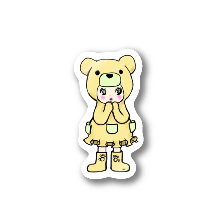 Suzuki Satomi イラストショップのベアミちゃん Stickers