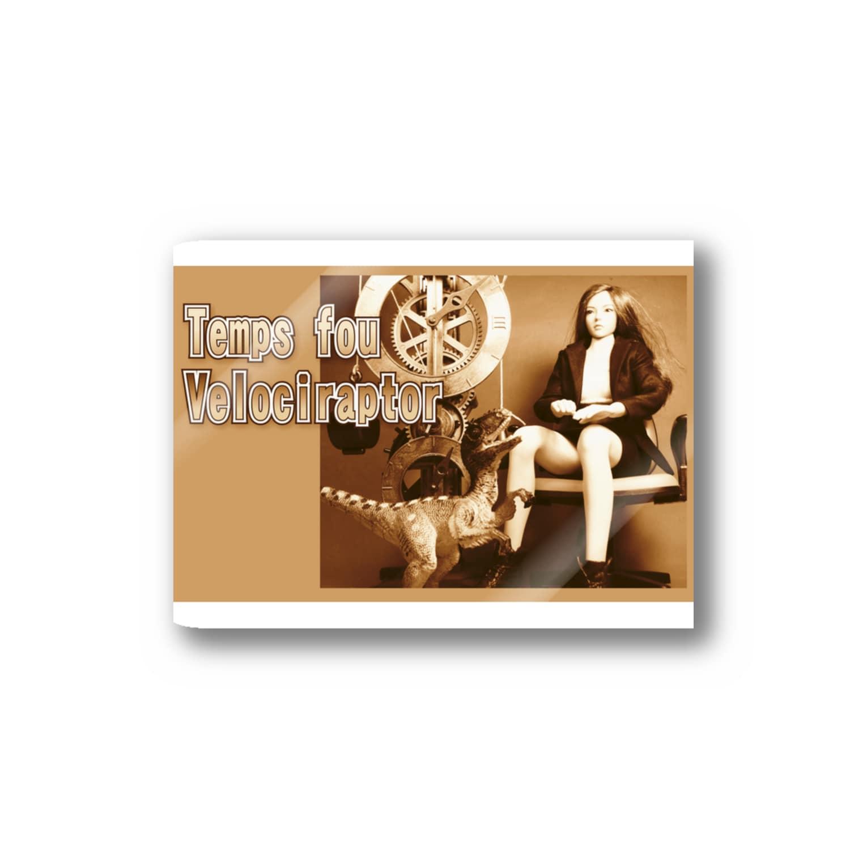 FUCHSGOLDのドール写真:美少女とヴェロキラプトル Doll picture: Velociraptor & pretty girl Stickers