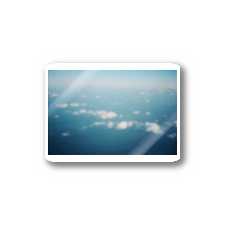 Shogo Hirokiの飛行機からの空 Stickers