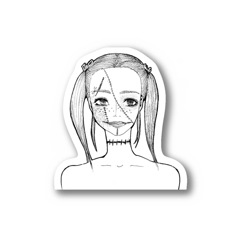 Tsuna ⁂のハロウィンゾンビ女 Stickers