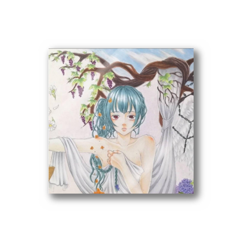 リップを食す者の水彩調美少女 Stickers