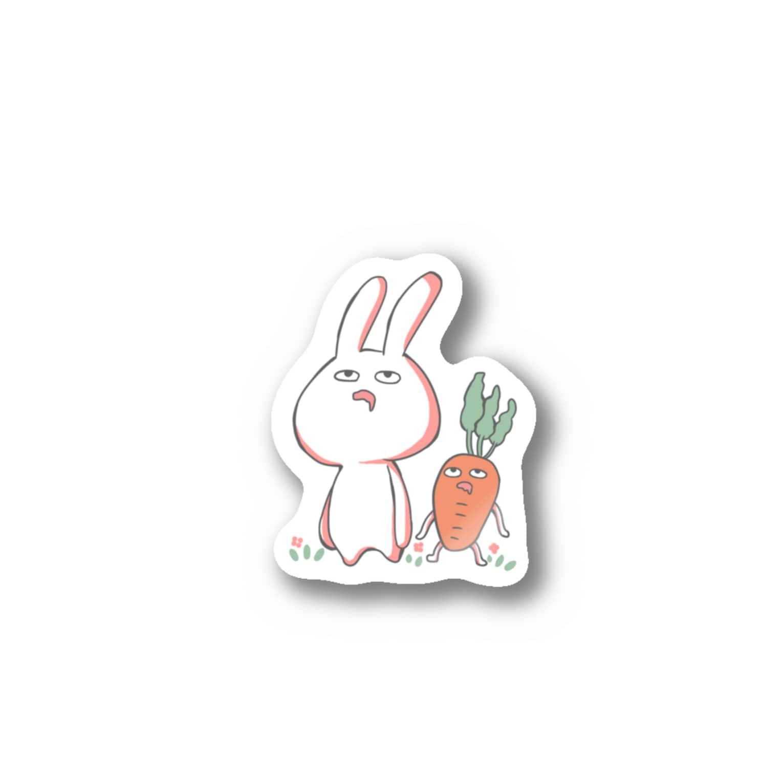 tomako_yuoのうさぎとにんじん Stickers