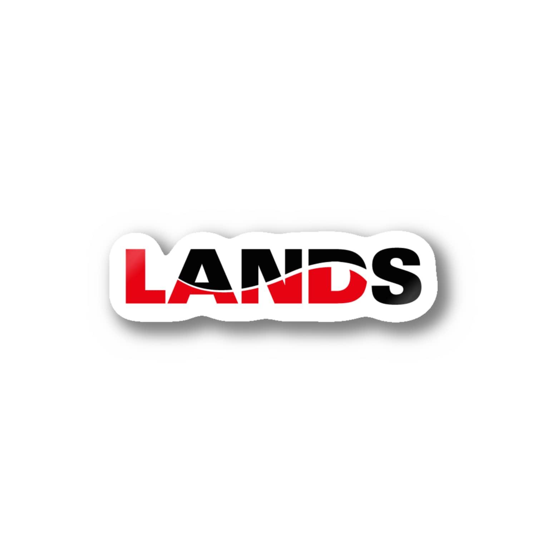 LANDSのLANDSロゴ Stickers