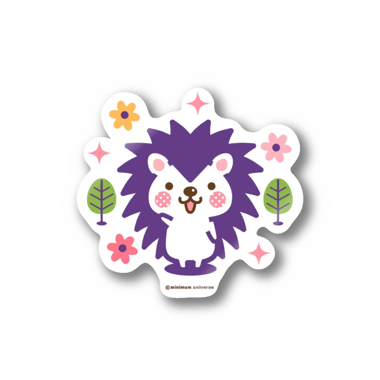 minimum universe / ミニマムユニヴァースのハリネズミのハリさん Stickers