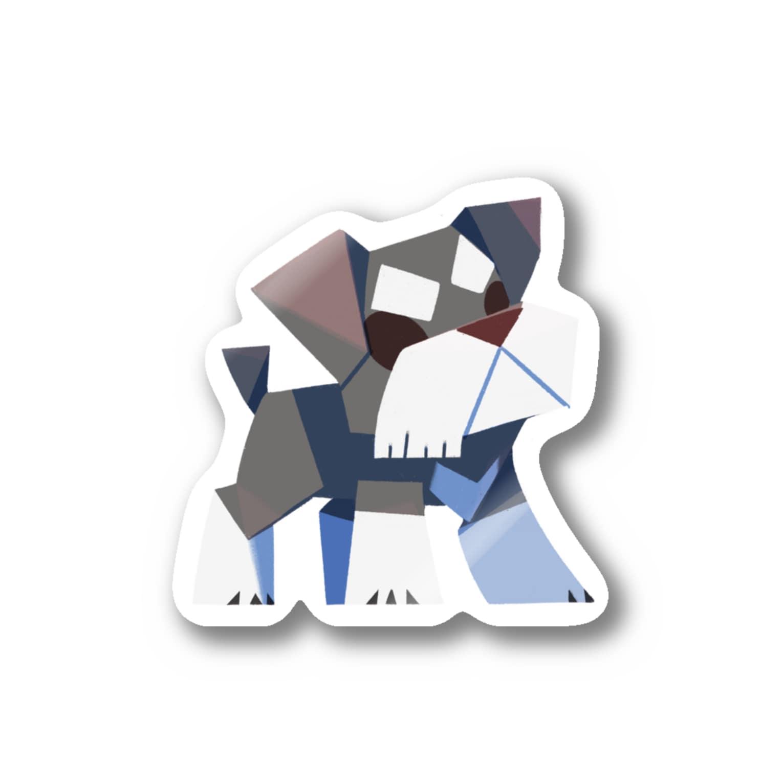 からす商のシュナウザー Stickers
