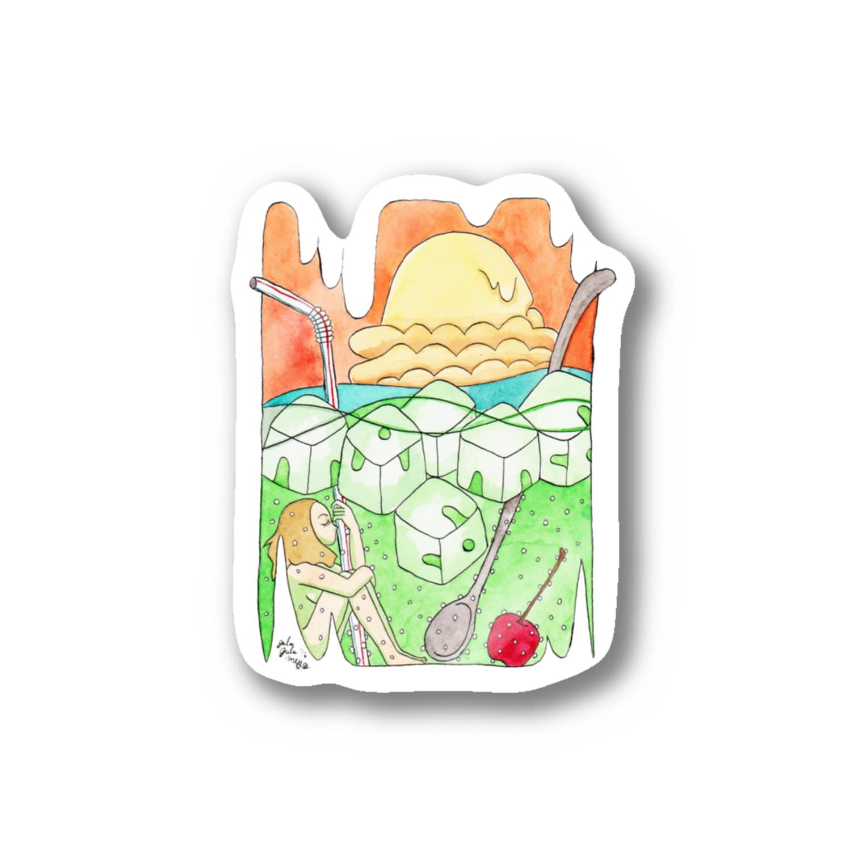 暗国の杜 SUZURI支店のクリームソーダ Stickers