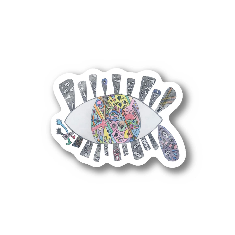 chilnyの世界を見る目 Stickers