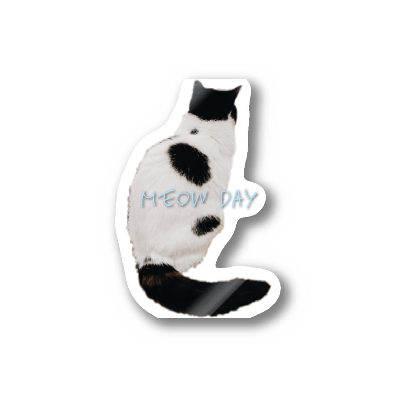 sayulishのモノクロ猫 Stickers