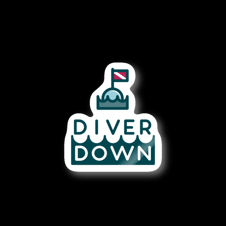 Diver Down公式ショップのDiver Downステッカーステッカー