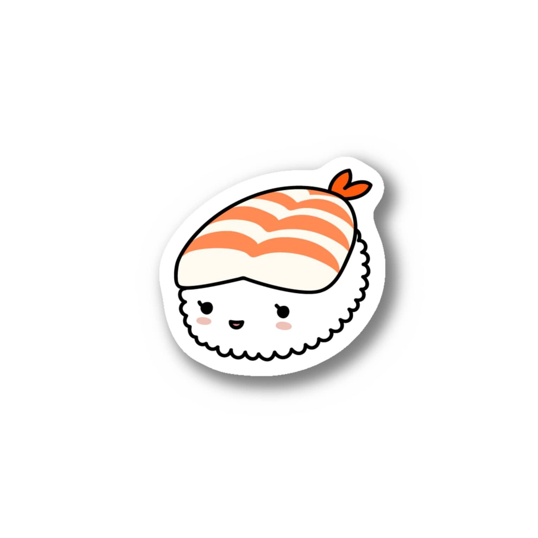 あわゆきの寿テッカー(えび) Stickers