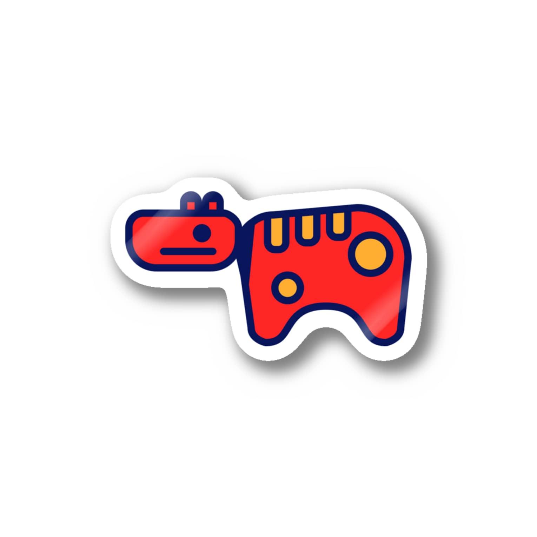 #akabekorのAkabeko 赤べこ Stickers