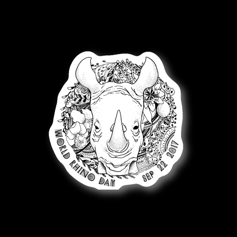 どんすけのWorld Rhino Day ステッカー