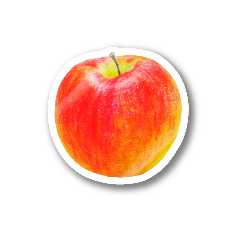 Hesperiidaeのいろえんぴつリンゴ ステッカー