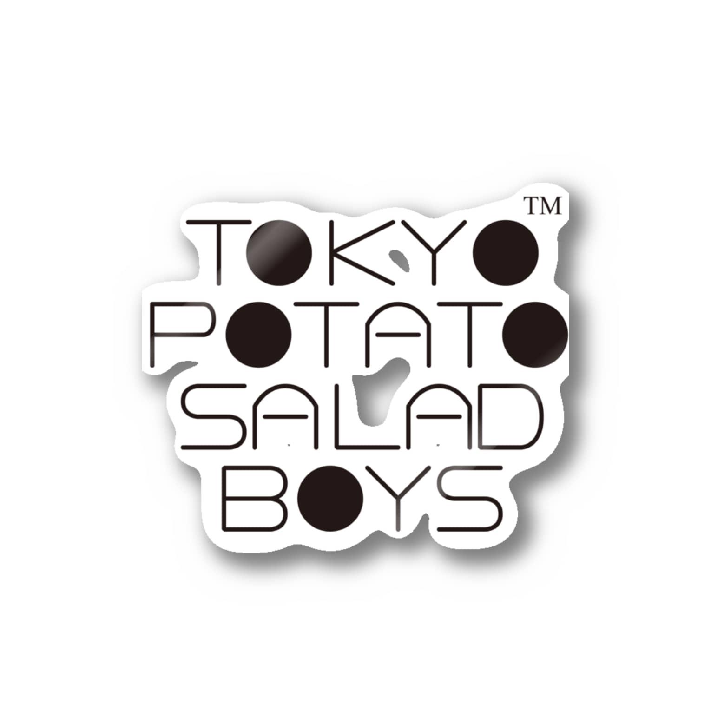 東京ポテトサラダボーイズ公式ショップの東京ポテトサラダボーイズ公式ネオクラシックロゴ Stickers