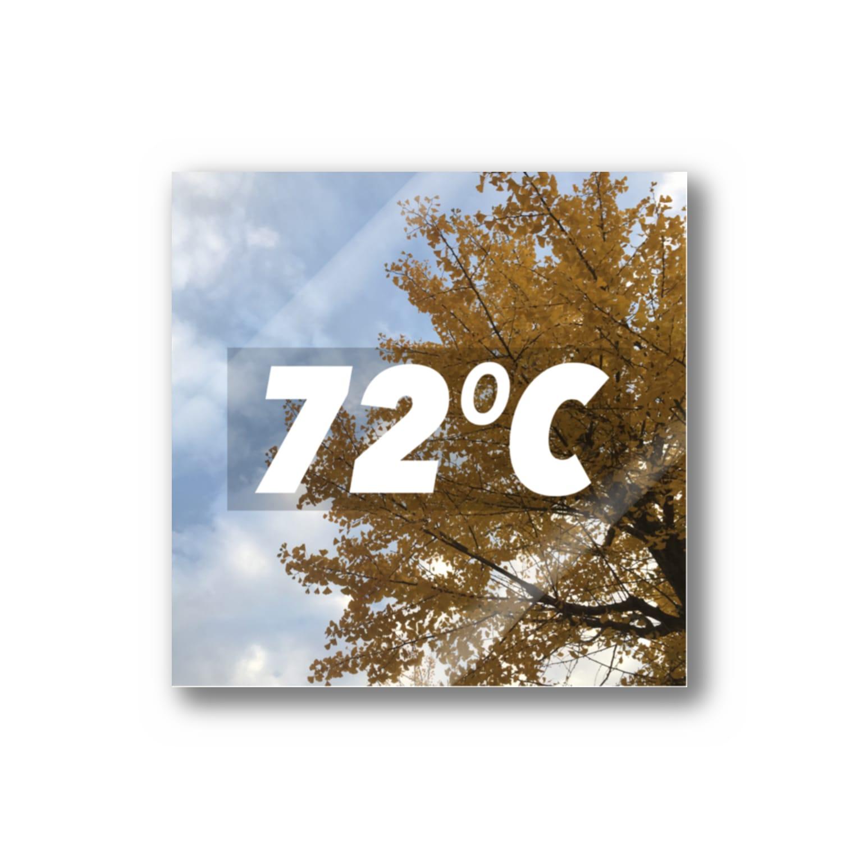 Ku×Ha=72 の72℃(イチョウver) Stickers