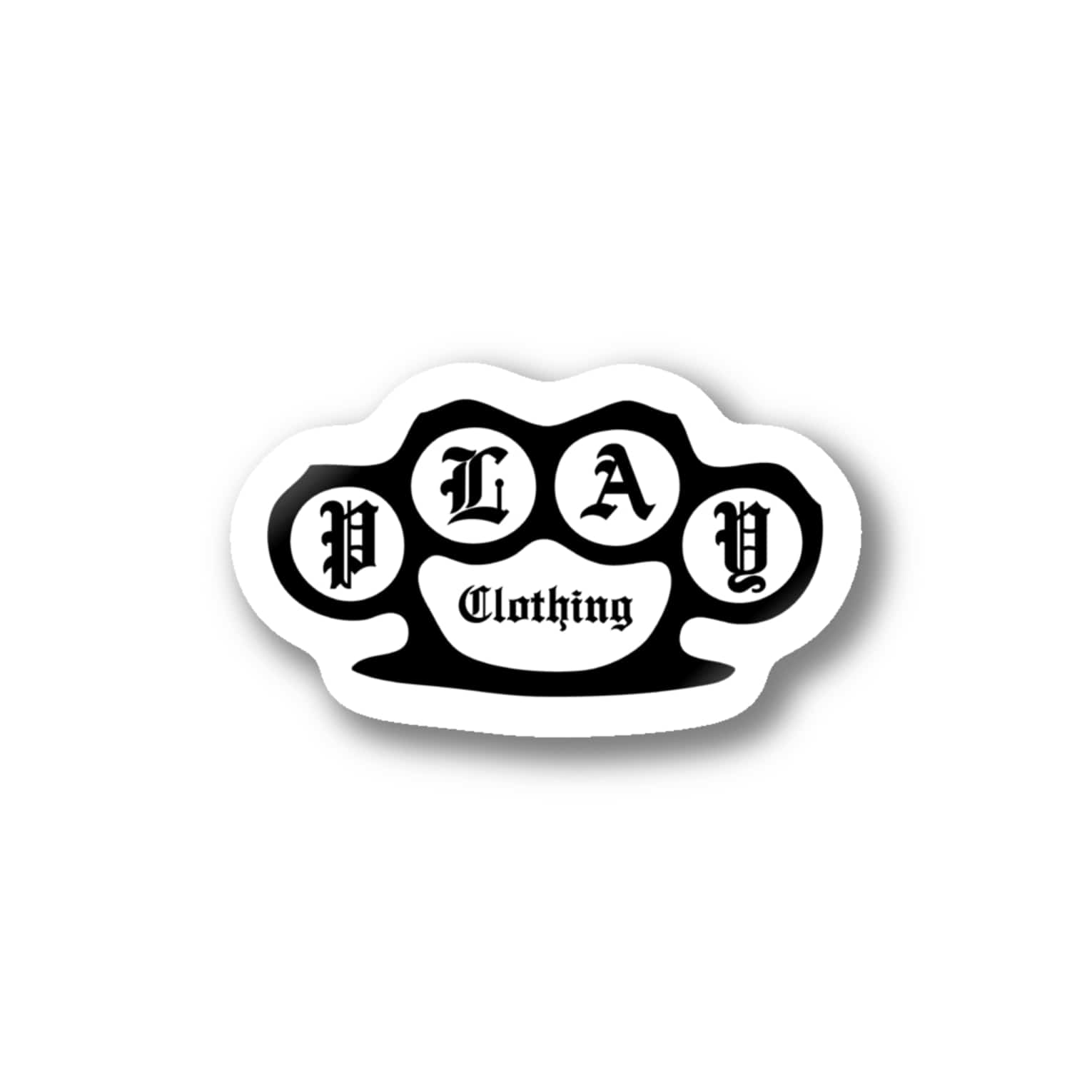 PLAY clothingのBRASS KNUCKLES B ② Stickers