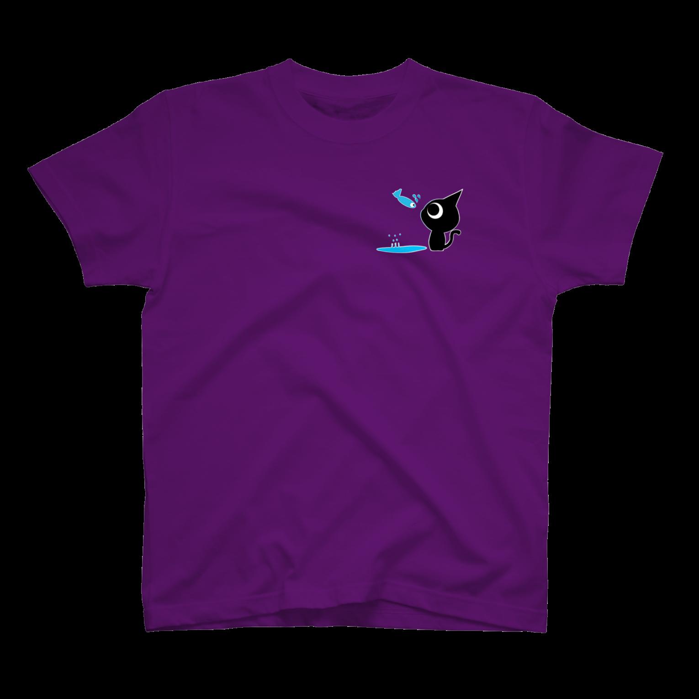 魚の夢〜ネコトビツクリトボク〜 Tシャツ