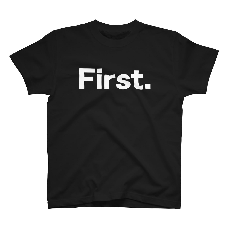 KIDMAMA SHOPのキッズ: 兄弟ナンバリング「1」白プリント T-shirts