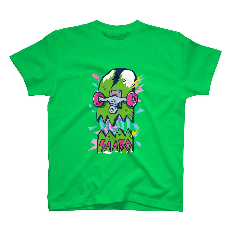 SAABOのBroken deck face T-shirts